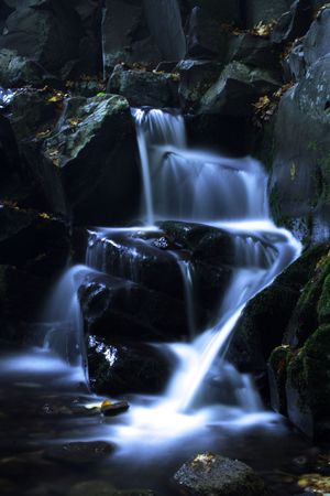 long exposure of a small waterfall photo