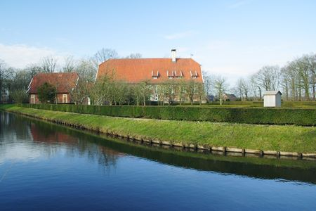 house with park and water in Germany, M�nster