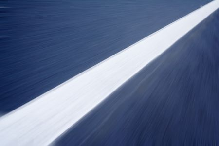 white line on the road with motion blur photo