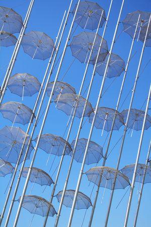 umbrellas in Thessaloniki, Greece Stock Photo