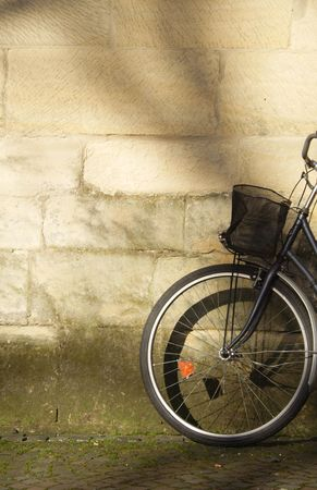 a bike by the wall
