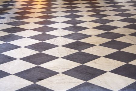 black and white stones, floor mosaic background photo