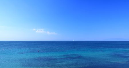 panoramic view of the sky and sea Stock Photo