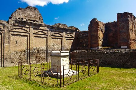 historical ruined building in Pompei, Italy photo