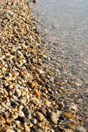 a lot of small colorful pebble stones photo