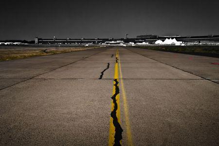 airport runway, desaturated background, Tempelhof airport, Berlin, Germany