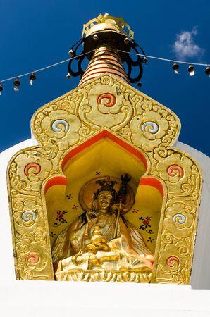 Buddhist stupa in Memorial Park of Sandor Korosi Csoma, Tar, Hungary