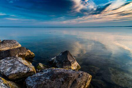 lake Balaton in the night