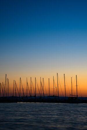 sunset at Balaton, Siofok Imagens