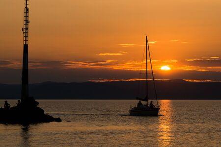 sunset at Balaton