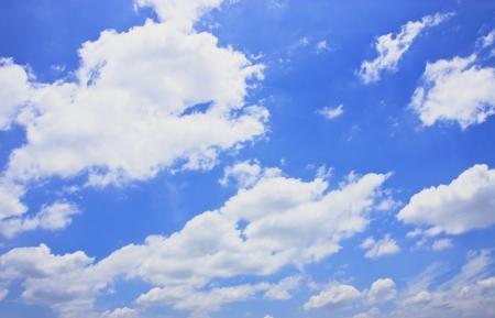 clound: cloud on the blue sky background