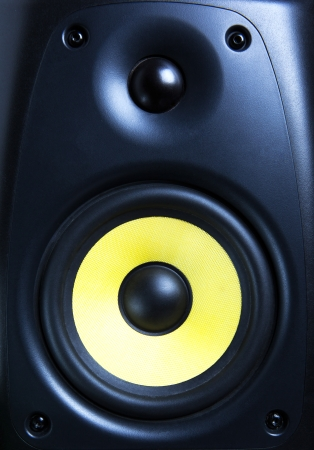 audio speaker close up photo