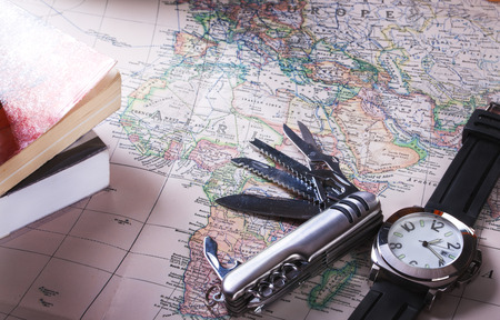 multipurpose: multipurpose knife on map
