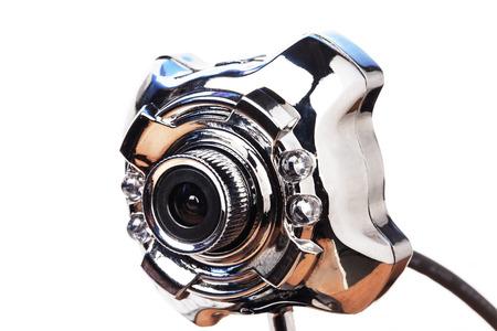 web camera on white background photo