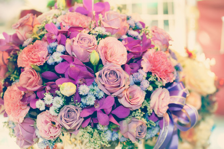 color effect: flower bouquet for decorate with color effect