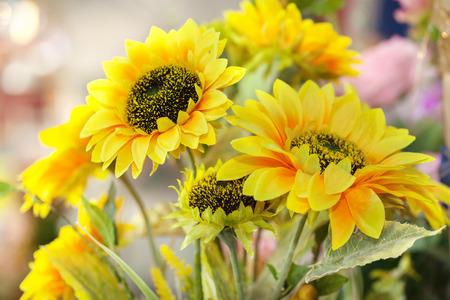 sun flower: artificial sun flower bouquet