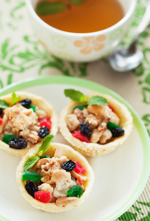 refreshment: cashew nut pie for refreshment in afternoon