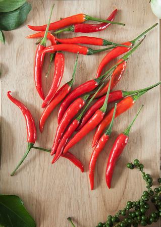 chilli pepper: chilli pepper on wooden board