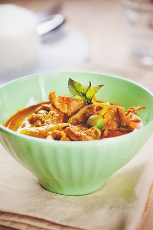 cow pea: pork curry in bowl,thai food