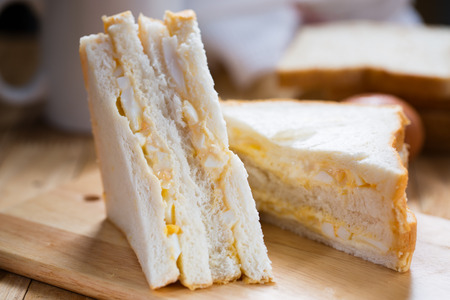 sandwich with egg for morning Stock Photo