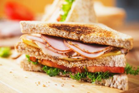 pepper ham cheese sandwich