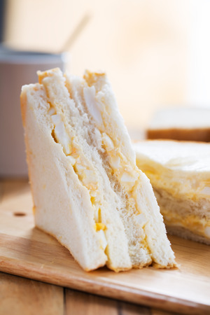 egg sandwich for breakfast Stock Photo
