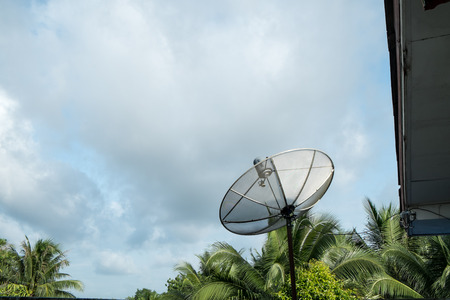 parabolic: satellite on the roof