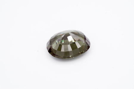 amber: Emerald on white background, Green Emerald, Green gems, Gem, Green jewel on the white background Stock Photo