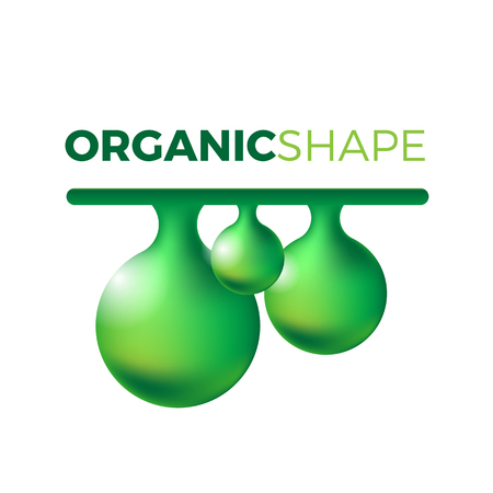 ooze: Organic slime vector concept. Liquid shape in realistic style with shadows and highlights. Mucus illustration.