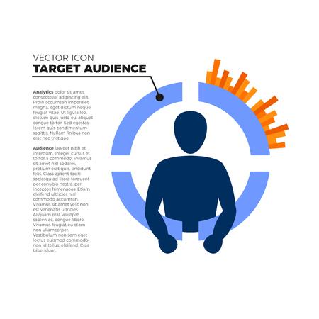Target market examination icon.