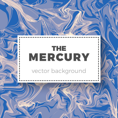 Quicksilver vector background. Abstract illustration of liquid mercury. Smooth texture and mild colors, curled and swirled shapes. Backdrop for your business ideas.