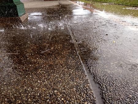 rain on the floors Foto de archivo