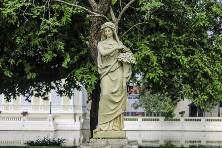 bang pa in: statue lady stone at Bang Pa In ,Ayutthaya,Thailand