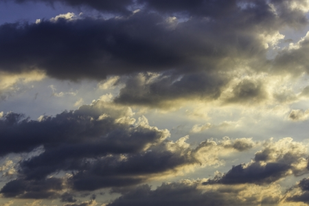 clound: clound and  golden sunrise