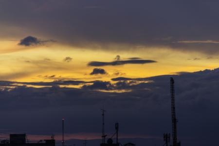 clound: clound and red sky Stock Photo
