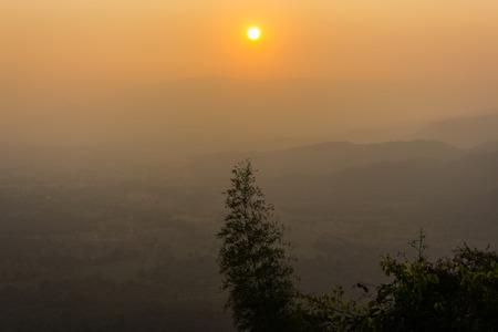 pa: mountain and sunset pa kebtawan,wangnumkeaw,nakornratchasima,thailand