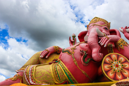 clound: pink lord ganesha  Stock Photo