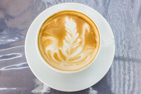 capucinno: Cappuccino with latte art (coffee)