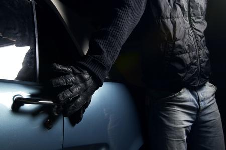 car lock: car thief