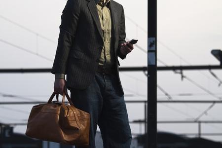 phon: texting Stock Photo