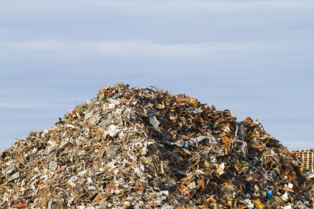 ugliness: Garbage pile Stock Photo