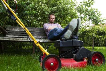 Lawnmower break photo