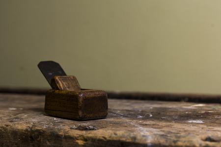 planer: old miniature wood planer