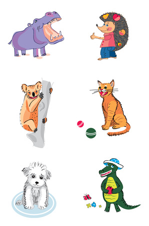 funny animals Illustration