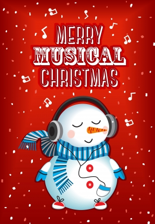 Merry musical christmas Vector