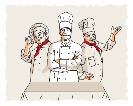 Three  vector chefs
