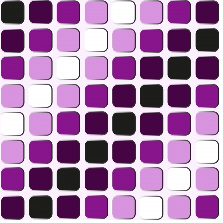 Purple, black and white shapes seamless pattern Illustration