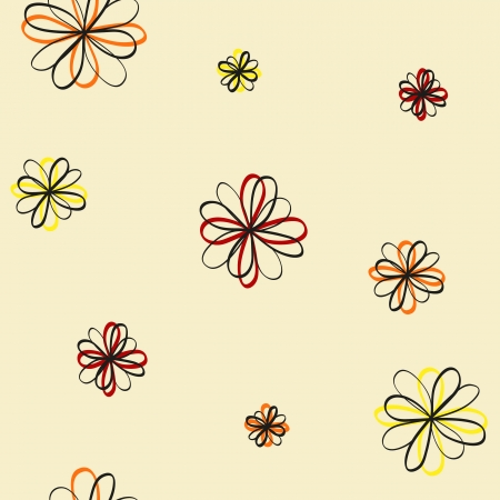 seamless flowers on a light background Illustration