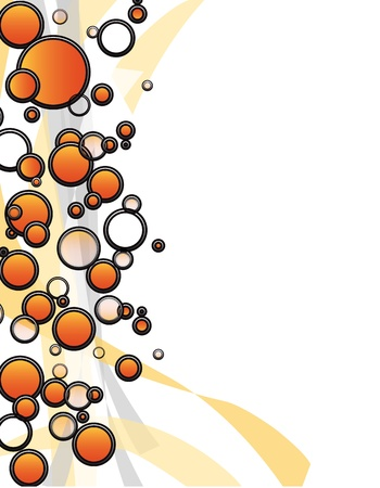 brink: Orange shapes border on white - copy space