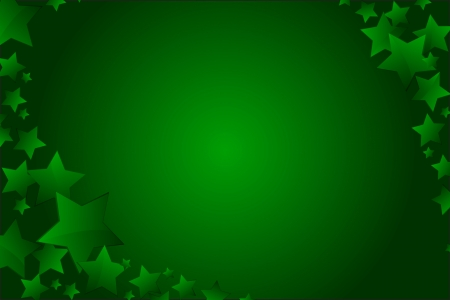 Vector christmas background stars green color copy space Stock Vector - 15774430